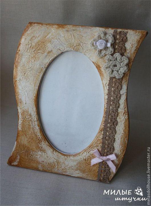 Подарки на свадьбу ручной работы. Ярмарка Мастеров - ручная работа. Купить рамка для фото в винтажном стиле. Handmade. Бежевый