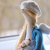 Куклы и игрушки ручной работы. Ярмарка Мастеров - ручная работа Тильда - девушка с цветами. Handmade.