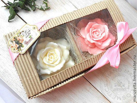 """Мыло ручной работы. Ярмарка Мастеров - ручная работа. Купить Подарочный набор мыла  """"Розы"""". Handmade. Мыло в Украине"""