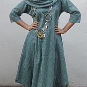Одежда ручной работы. Ярмарка Мастеров - ручная работа Платье Флоренция из вышитого льна. Handmade.