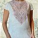 Льняное платье с ручной вышивкой Жемчужное. Модная одежда с ручной вышивкой. Творческое ателье Modne-Narodne.