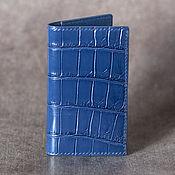 Сумки и аксессуары handmade. Livemaster - original item Copy of Copy of Copy of business card Holder crocodile leather. Handmade.