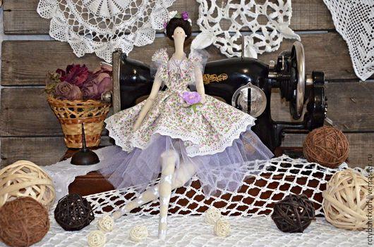 Куклы Тильды ручной работы. Ярмарка Мастеров - ручная работа. Купить Фелиция текстильная, интерьерная кукла Тильда балерина.. Handmade.