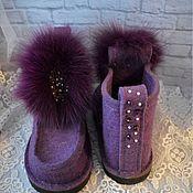 Обувь ручной работы. Ярмарка Мастеров - ручная работа Дизайнерские валенки с брошкой. Handmade.