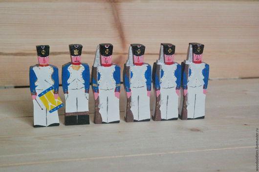 Миниатюра ручной работы. Ярмарка Мастеров - ручная работа. Купить Французская армия Наполеона (линейная пехота). Handmade. Деревянная игрушка