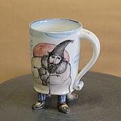 Посуда ручной работы. Ярмарка Мастеров - ручная работа Чашка с ножками. Handmade.