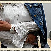 Одежда ручной работы. Ярмарка Мастеров - ручная работа блуза с опущенными плечиками крестьянка. Handmade.