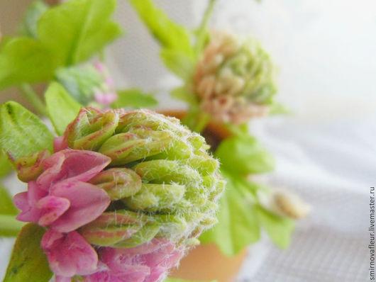 Цветы ручной работы. Ярмарка Мастеров - ручная работа. Купить Цветы из полимерной глины. Клевер. Handmade. Розовый, букет