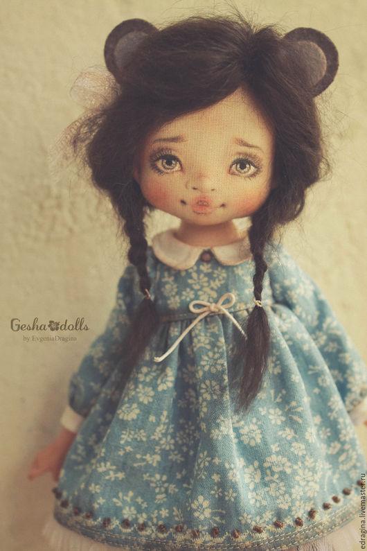 Коллекционные куклы ручной работы. Ярмарка Мастеров - ручная работа. Купить Мышка. Handmade. Голубой, авторская кукла, текстиль