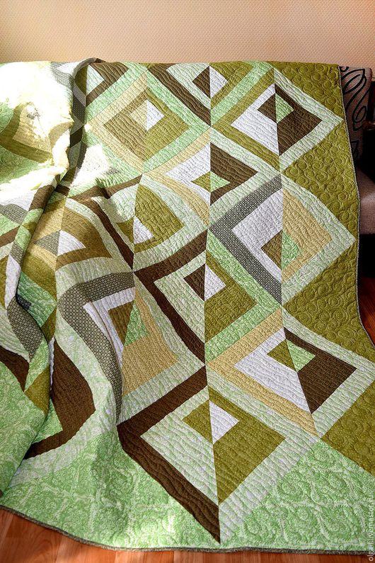 """Текстиль, ковры ручной работы. Ярмарка Мастеров - ручная работа. Купить Комплект. Покрывало стеганое + 2 подушки """"Relax"""". Handmade."""