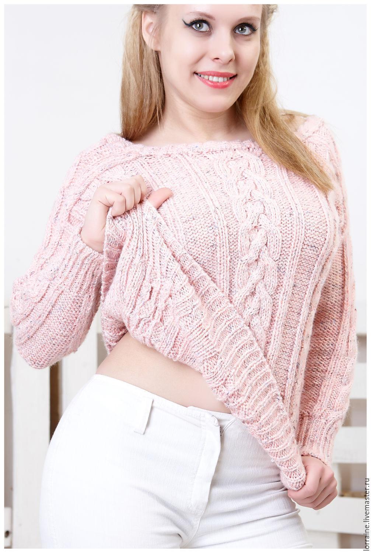 Меланжевый женский свитер доставка