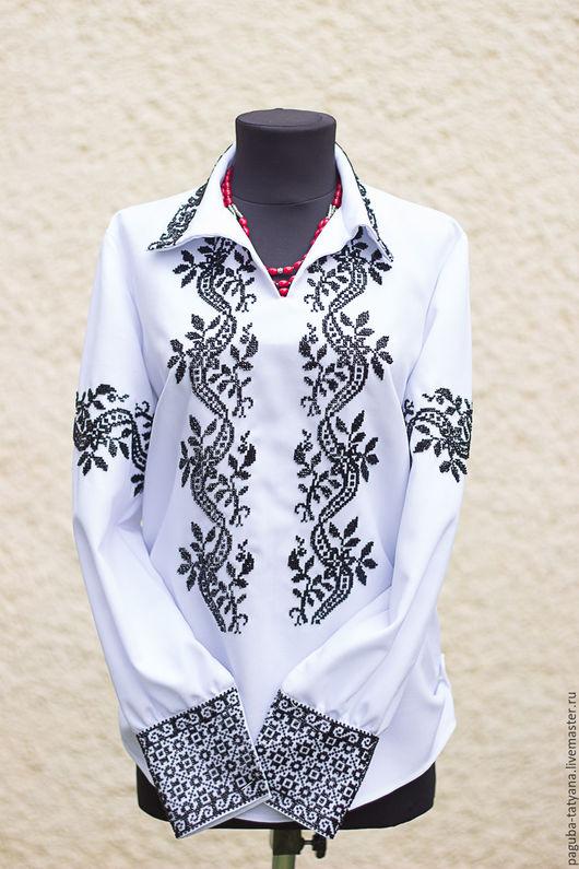 """Блузки ручной работы. Ярмарка Мастеров - ручная работа. Купить Блуза женская """"Сокальская"""". Handmade. Бисер чешский, блузка нарядная"""