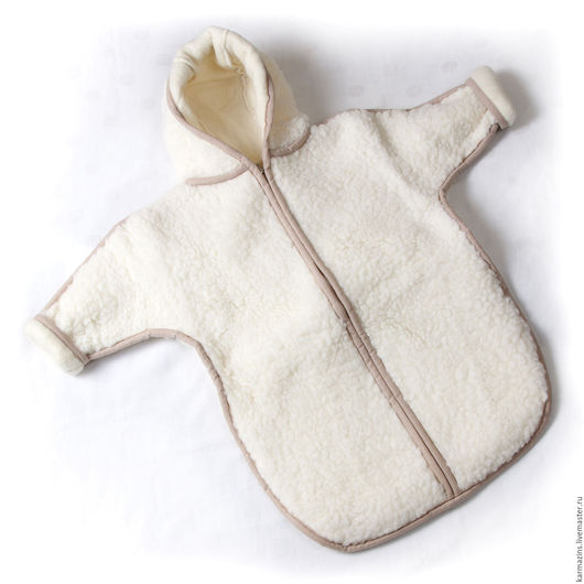 Для новорожденных, ручной работы. Ярмарка Мастеров - ручная работа. Купить Конверт из мериноса БЕЛОСНЕЖКА. Handmade. Однотонный, конверт для детей