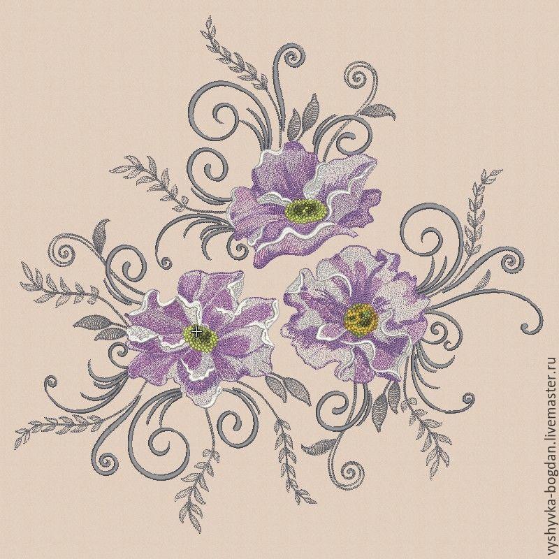 Machine Embroidery Designs Big Poppies Bt195 Shop Online On
