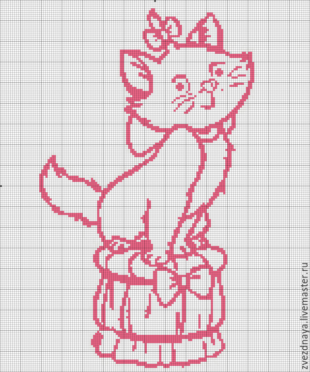 кошка вышитая крестиком схема