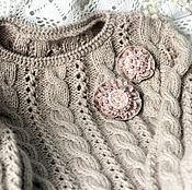 Одежда ручной работы. Ярмарка Мастеров - ручная работа Джемпер удлинённый джемпер вязаный джемпер ручной работы. Handmade.