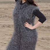 Одежда handmade. Livemaster - original item DOWNY CARDIGAN KNITTED MEN`s WOMEN`s WARM 100% goat down ring. Handmade.