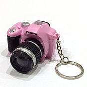 Материалы для творчества ручной работы. Ярмарка Мастеров - ручная работа Фотокамера со вспышкой, размер 55х53х35 мм. Handmade.