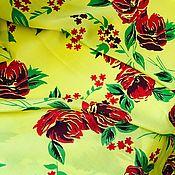 """Материалы для творчества ручной работы. Ярмарка Мастеров - ручная работа Крепдешин """" Ах,этот модный желтый 2 """"2,35 м. Handmade."""