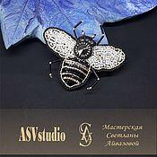 Украшения ручной работы. Ярмарка Мастеров - ручная работа Брошь Пчелка в стиле Dolce&Gabbana. Handmade.