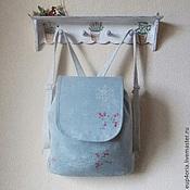 """Рюкзаки ручной работы. Ярмарка Мастеров - ручная работа Льняной рюкзак """" Хрупкая нежность"""". Handmade."""