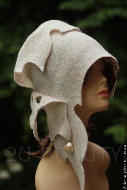 Шляпы ручной работы. Ярмарка Мастеров - ручная работа. Купить Дизайнерская шляпка. Шляпка для весны, для осени.. Handmade. Белый