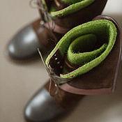 Обувь ручной работы. Ярмарка Мастеров - ручная работа Сапоги зелено-коричневые. Handmade.