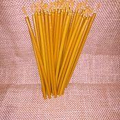Ритуальная свеча ручной работы. Ярмарка Мастеров - ручная работа Чистые восковые свечи высший сортНе окрашеные. Handmade.