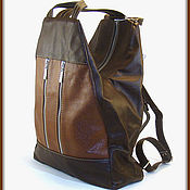 Рюкзаки ручной работы. Ярмарка Мастеров - ручная работа Рюкзак кожаный Рыжий с коричневым. Handmade.