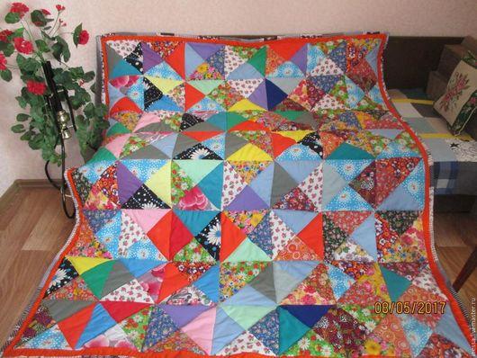 """Текстиль, ковры ручной работы. Ярмарка Мастеров - ручная работа. Купить Лоскутное одеяло-покрывало """"Из бабушкиного сундука"""""""". Handmade."""