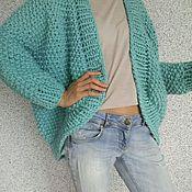 Одежда ручной работы. Ярмарка Мастеров - ручная работа Кардиган цвета тиффани. Handmade.