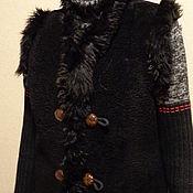 Одежда ручной работы. Ярмарка Мастеров - ручная работа Жилетка-душегрейка из старой шубы. Handmade.