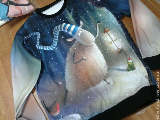 Кофты и свитера ручной работы. Ярмарка Мастеров - ручная работа. Купить Свитшот  Новогодняя Овечка. Handmade. Свитшот с рисунком, свитер