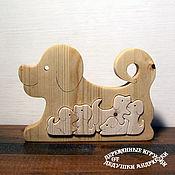 """Куклы и игрушки handmade. Livemaster - original item Развивающие игрушки. Пазлы. Балансиры. Собачки """"Наша мама"""". Handmade."""