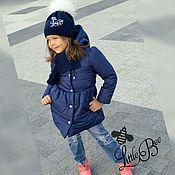 Работы для детей, ручной работы. Ярмарка Мастеров - ручная работа Осенне-весеннее пальто с капюшоном  для девочки. Handmade.