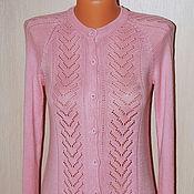 Одежда ручной работы. Ярмарка Мастеров - ручная работа кофта вязаная женская Нежно-розовая. Handmade.
