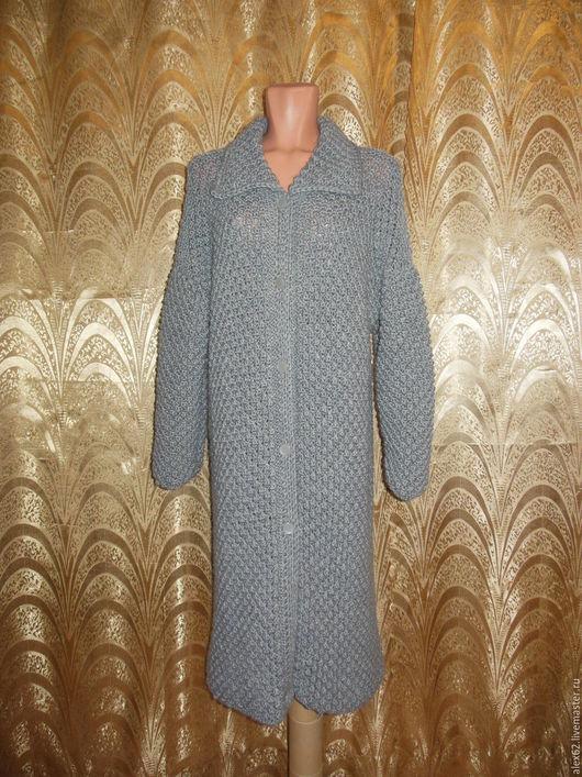 Верхняя одежда ручной работы. Ярмарка Мастеров - ручная работа. Купить Пальто. Handmade. Пальто вязаное, мягкое, шерсть с акрилом