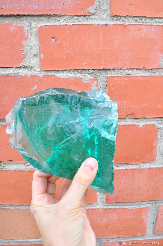 Erklez lumpy green glass, chunks of glass, rocks glass, Products, Azov, Фото №1
