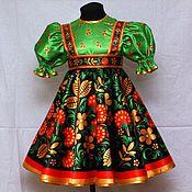 Одежда детская handmade. Livemaster - original item Russian folk costume for girls