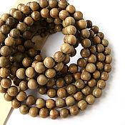 Материалы для творчества handmade. Livemaster - original item Beads Sandalwood fragrant green Guaiac wood 15mm. Handmade.