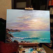 Картины ручной работы. Ярмарка Мастеров - ручная работа Картины: Рассвет на морском берегу. Handmade.