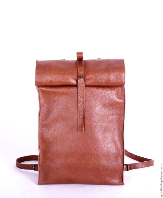 Рюкзаки ручной работы. Ярмарка Мастеров - ручная работа. Купить Рюкзак GoTravel Vintage RollUp Oregon. Handmade. Рыжий, ноутбук