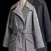 Одежда handmade. Livemaster - original item Coat jacket with belt grey