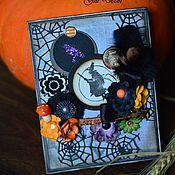 """Подарки к праздникам ручной работы. Ярмарка Мастеров - ручная работа Открытка """"Witch"""". Handmade."""