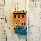 """Для дома и интерьера ручной работы. Ярмарка Мастеров - ручная работа вывеска/декор дома """"Welcome"""". Handmade."""