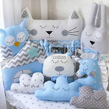 Для дома и интерьера ручной работы. Ярмарка Мастеров - ручная работа Бортики звери для детских кроваток. Handmade.