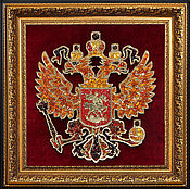 Картины и панно handmade. Livemaster - original item the coat of arms of the russian federation from amber. Handmade.