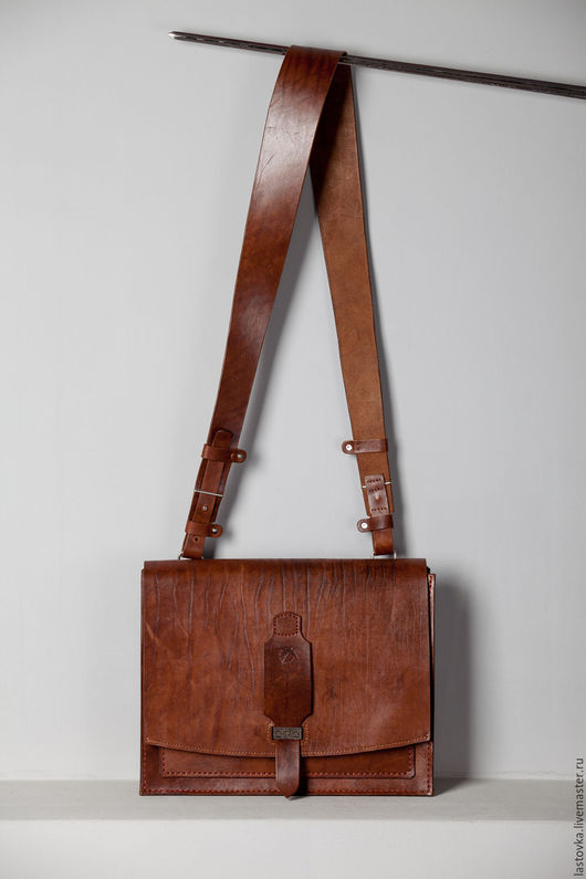 Мужские сумки ручной работы. Ярмарка Мастеров - ручная работа. Купить сумка-портфель. Handmade. Коричневый, деловой стиль