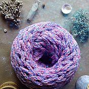 Аксессуары ручной работы. Ярмарка Мастеров - ручная работа Двухцветный сиреневый шарф-снуд. Handmade.