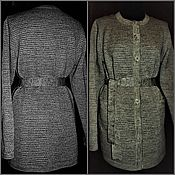 Одежда handmade. Livemaster - original item Due from linen yarn.Women`s cardigan with pockets a belt as a gift. Handmade.